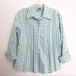 Lilly Pulitzer Checkered Button Down Shirt Size 8